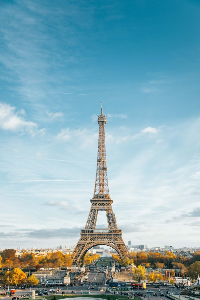 A photo of the Eiffel Tower in Paris, France. 131 years ago on March 31st, the Eiffel Tower opened.  Photo by    Anthony DELANOIX    on    Unsplash