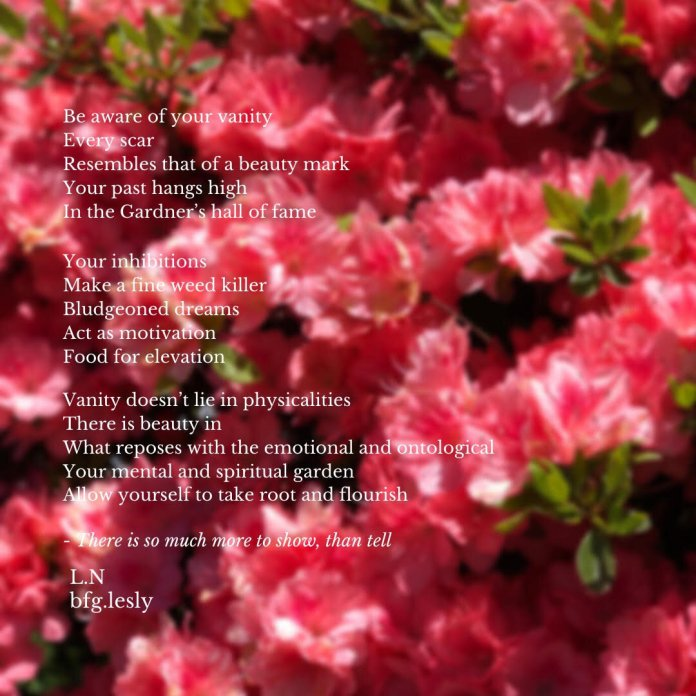 """A poem titled """"There is Beauty in"""" by campus correspondent Lesly Nerette.  Photo courtesy of Lesly Nerette/The Daily Campus"""