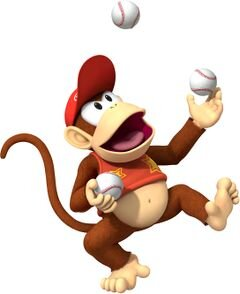 Image of Diddy Kong courtesy of    Mario Super Sluggers    on    mariowiki.com   .