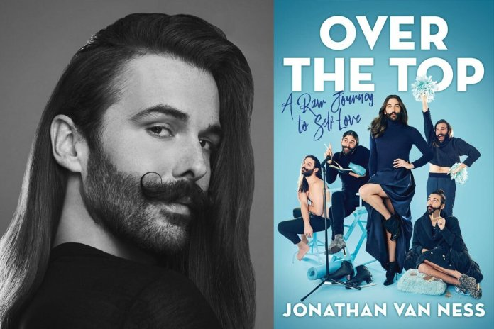 """The cover of, """"Over the Top: A Raw Journey to Self-Love by Jonathan Van Ness.""""  Photo courtesy of    pittsburghlectures.culturaldistrict.org"""
