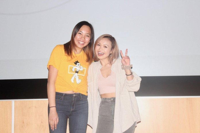 The author posing with Nix at a meet and greet event at UConn in 2018. Ukewithnix began her music career with covers on Youtube. Her simple covers are easy to vibe with and are sure to lift anyone's spirits.  Photo provided by author.