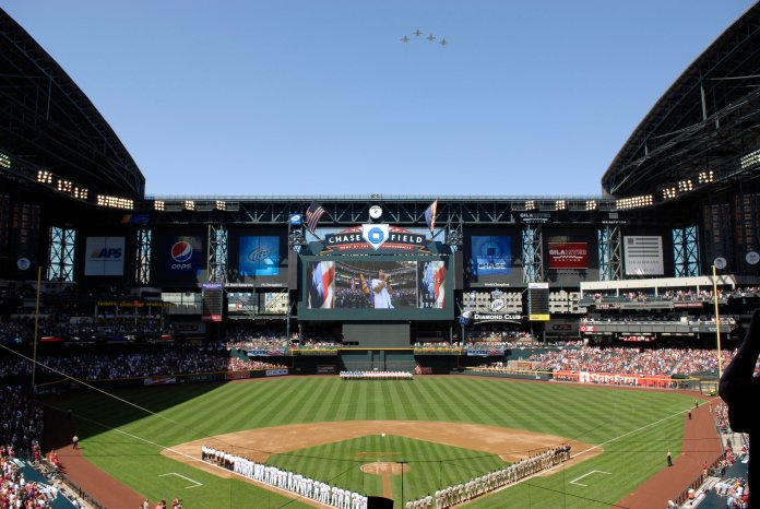 The MLB is working on a proposal to begin their season in the middle of the COVID-19 pandemic, with all games being played in Arizona. However, this plan has already been hit some serious backlash from players and coaches.  Photo via commons.wikimedia.org.
