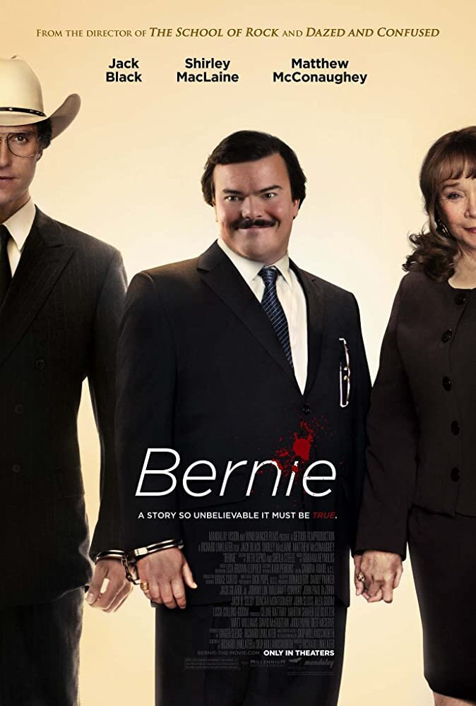 """""""Bernie"""" was released in 2011. It follows the story of a funeral director as he deals with and eventually kills an abusive widow.  Photo via IMDb.com"""