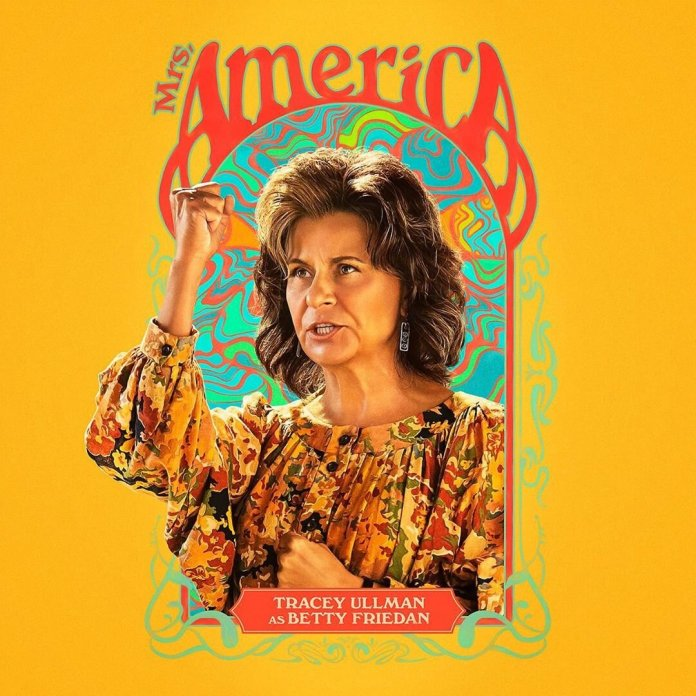Mrs. America is a new TV on Hulu that tells the story of the defeat of the Equal Rights Amendment.  Image via @   mrsam_fxonhulu