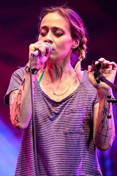 Fiona Apple joins the Watkins Family Hour house band for Bob Dylan's Highway 61 Revisited at Lincoln Center's Out of Doors series, August 8, 2015.   Photo by Sachyn Mital in the public domain.