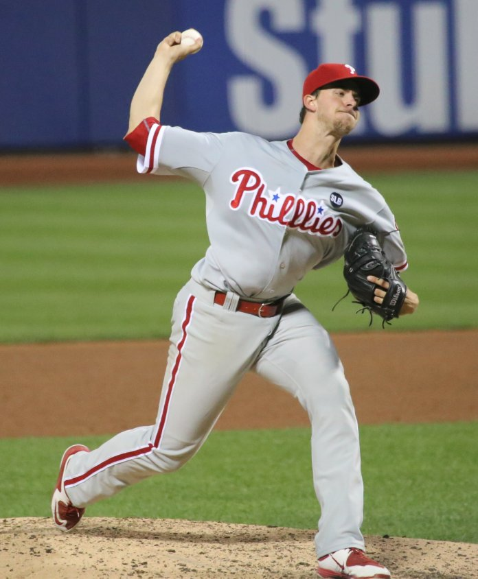 After a stellar 2018 Nola dropped off a bit in 2019, but still had a solid season with the Phillies. With plenty of time left in his career he's placed at No. 86 heading into 2020.  Photo via    commons.wikimedia.org