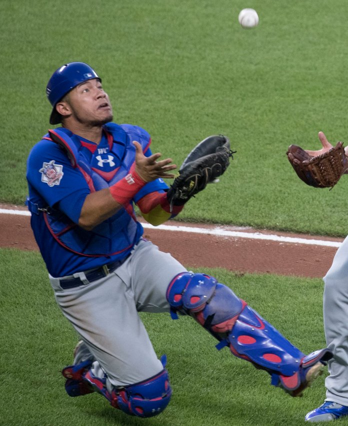 Like many others in this section of the list, Contreras' talent is hampered by injuries. When he's healthy he is good but that inconsistency places him at No. 82.  Photo via    commons.wikimedia.org