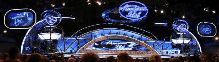 A  panoramic photo of the  American Idol Experience  stage at Disney Hollywood Studios in Walt Disney World.  Photo in the    public domain