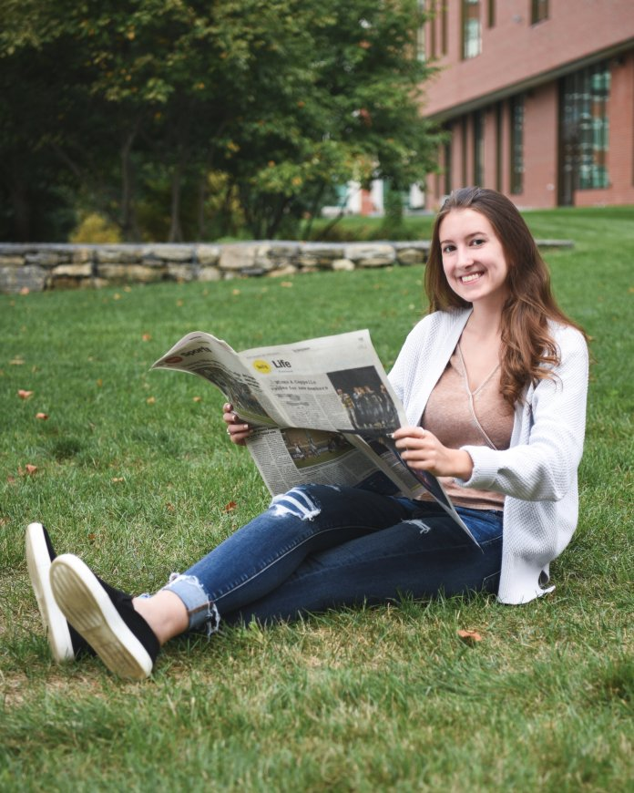 Melissa Scrivani is the outgoing associate life editor of The Daily Campus.  Photo by Charlotte Lao/The Daily Campus.
