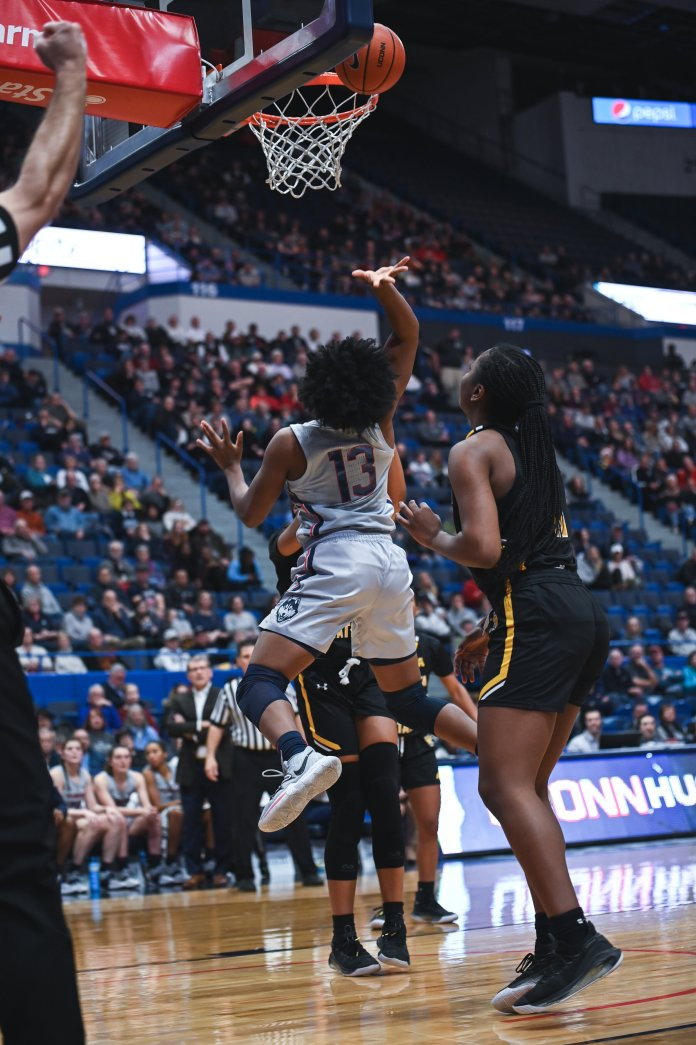 Christyn Williams finished the year averaging 14.6 points per game on the year.  Photo by Charlotte Lao/The Daily Campus
