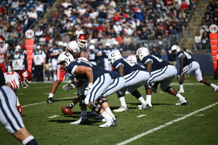 Amid COVID-19 safety concerns, the University of Connecticut announced Wednesday that its 2020 football season would be canceled, making it the first Football Bowl Subdivision program of Division I college football to cancel the season outright.  Photo by Eric Wang/The Daily Campus.