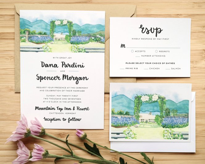 Wedding Invitations Katie Pea Studio