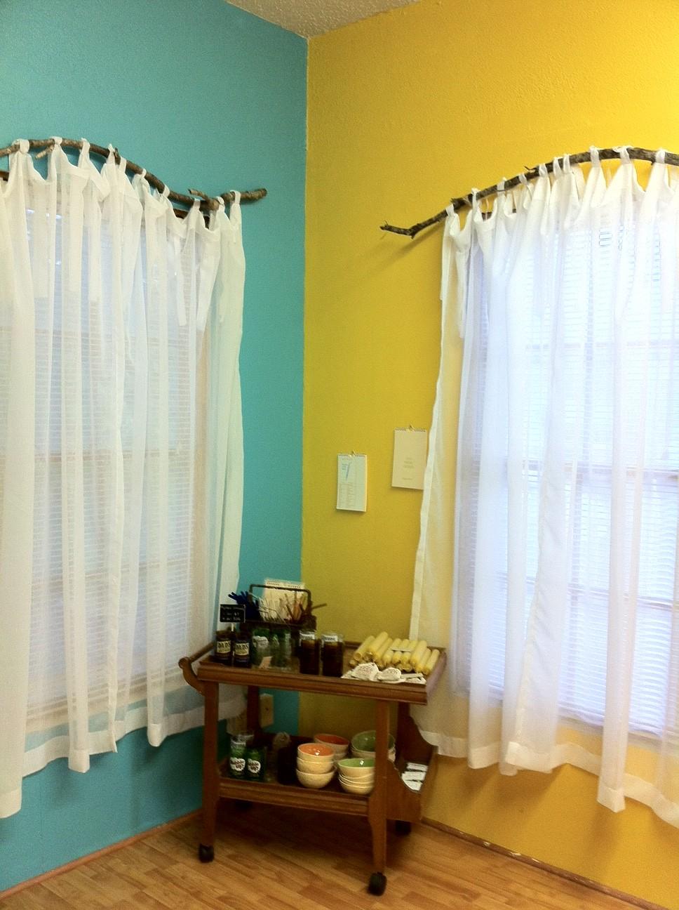diy branch curtain rods the burlap bag