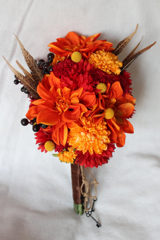 silk wedding flowers and