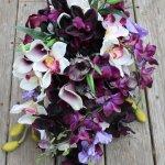 Dark Purple Silk Wedding Flowers Silk Wedding Flowers And Bouquets Online Love Is Blooming