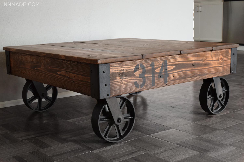 factory cart coffee table nn made