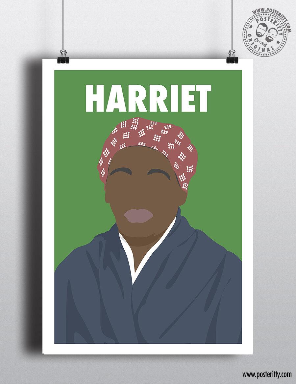 harriet tubman minimalist female icon poster posteritty