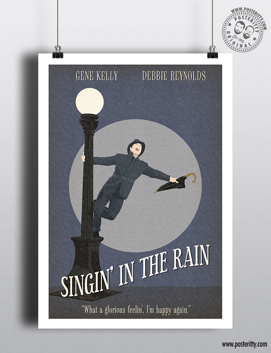 singing in the rain minimal movie poster posteritty
