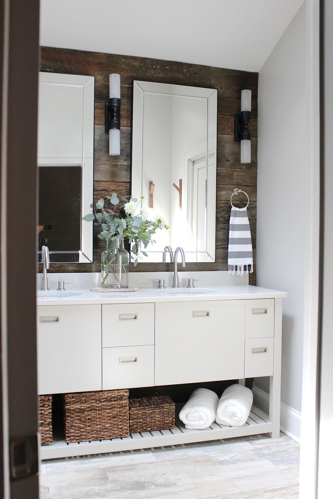 use reclaimed barn boards in the bathroom