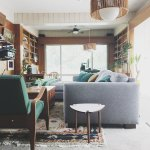 Cozy Collected Mid Century Modern Den Embracing Dated Original Wood Paneling Retro Den Vintage Furniture And Homewares