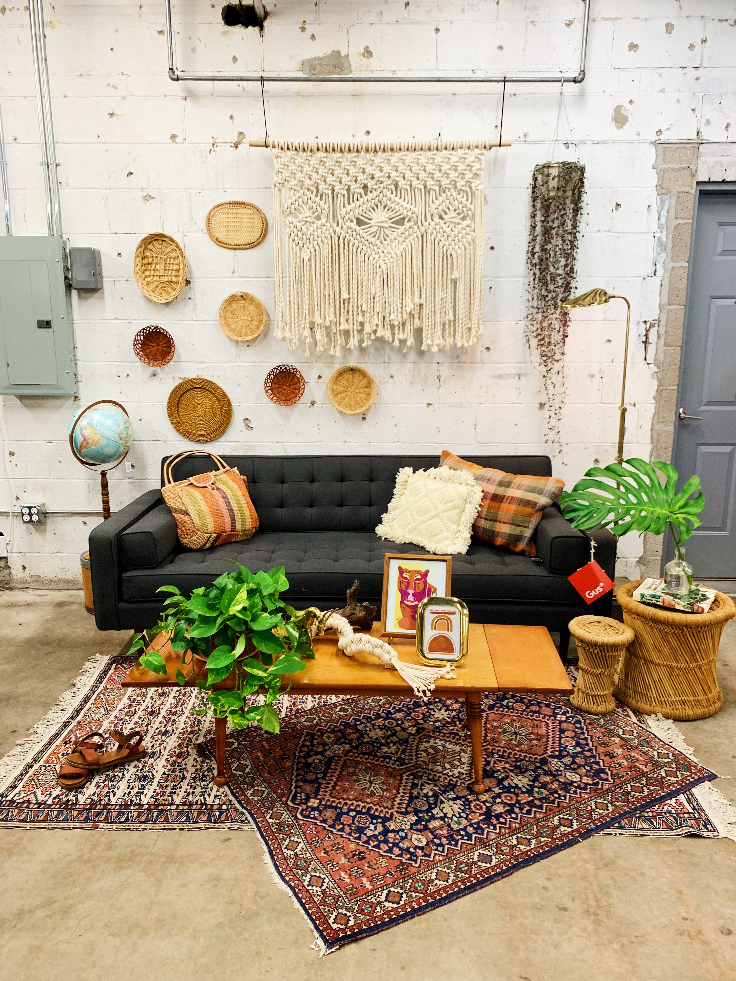 One Gus Sofa Three Ways Bohemian Moody Modern And Plant
