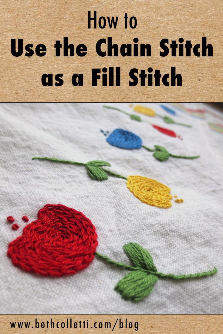 Chain Stitch Embroidery : chain, stitch, embroidery, Chain, Stitch, Colletti, Design