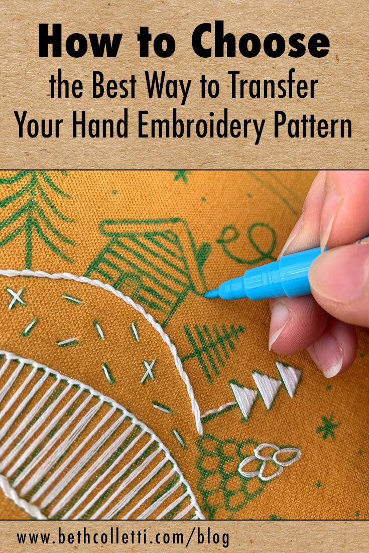 Embroidery Transfer Paper Printer : embroidery, transfer, paper, printer, Choose, Transfer, Embroidery, Pattern, Colletti, Design