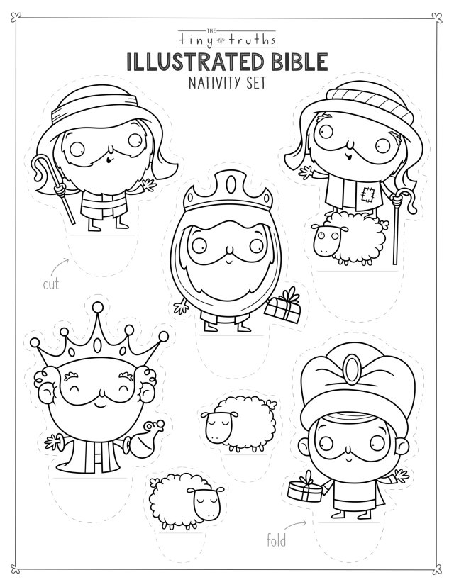 Tiny Truths Illustrated Bible Christmas Coloring and Crafts — tiny