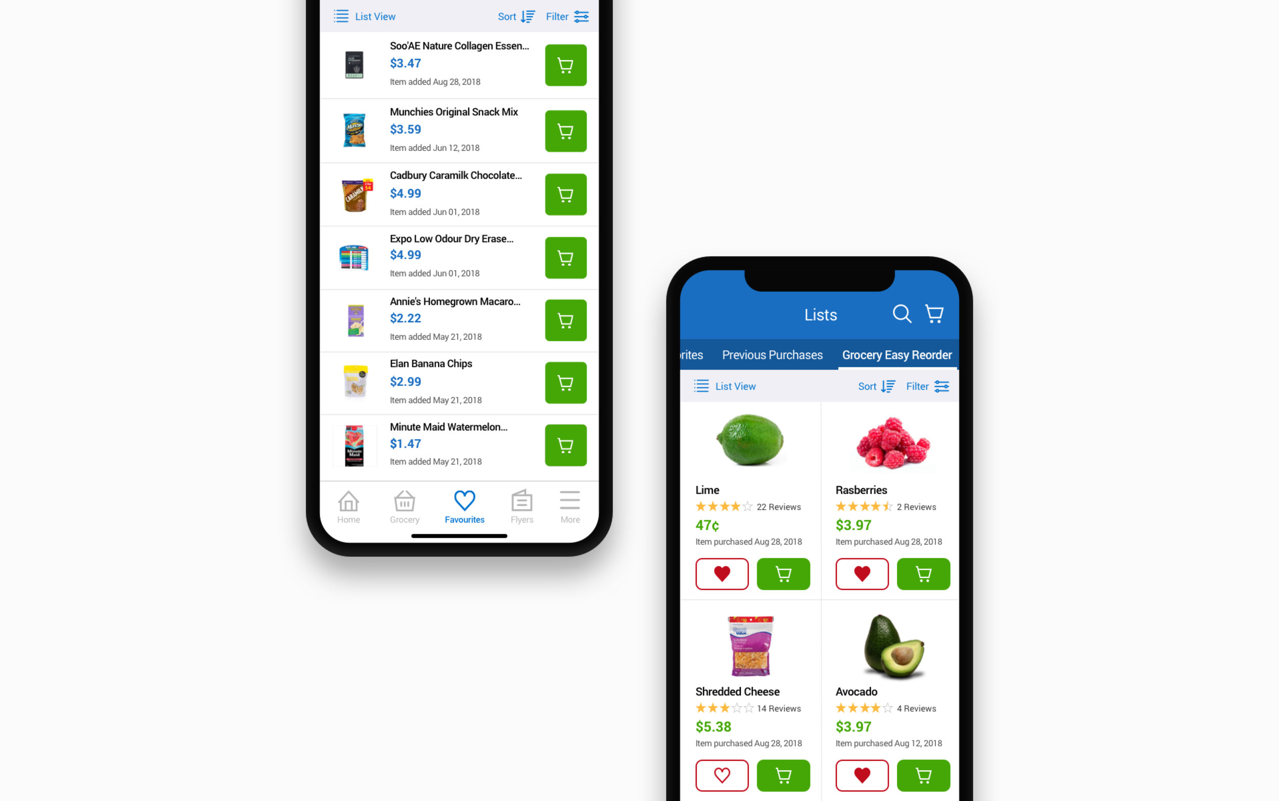 hight resolution of e commerce app shopping lists