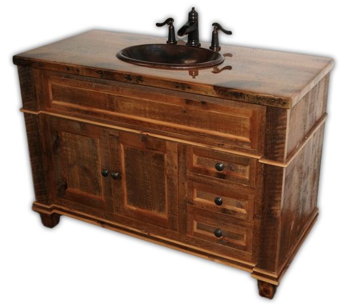 Antique Style Bathroom Vanity Barnwood Vienna Woodworks