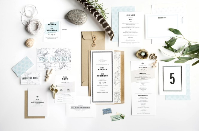 Gazette Suite O Tenfold Wedding Invitations