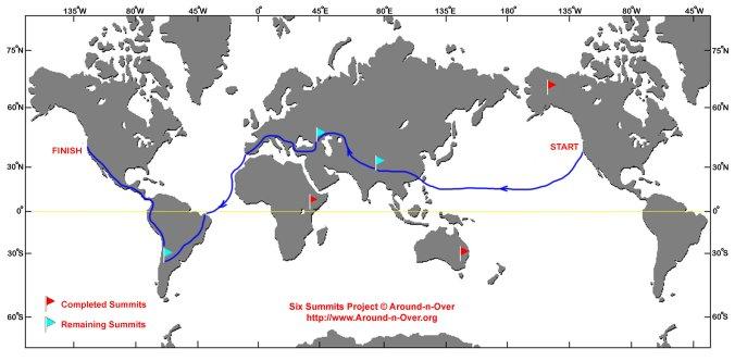 Erden Eruç's new planned route