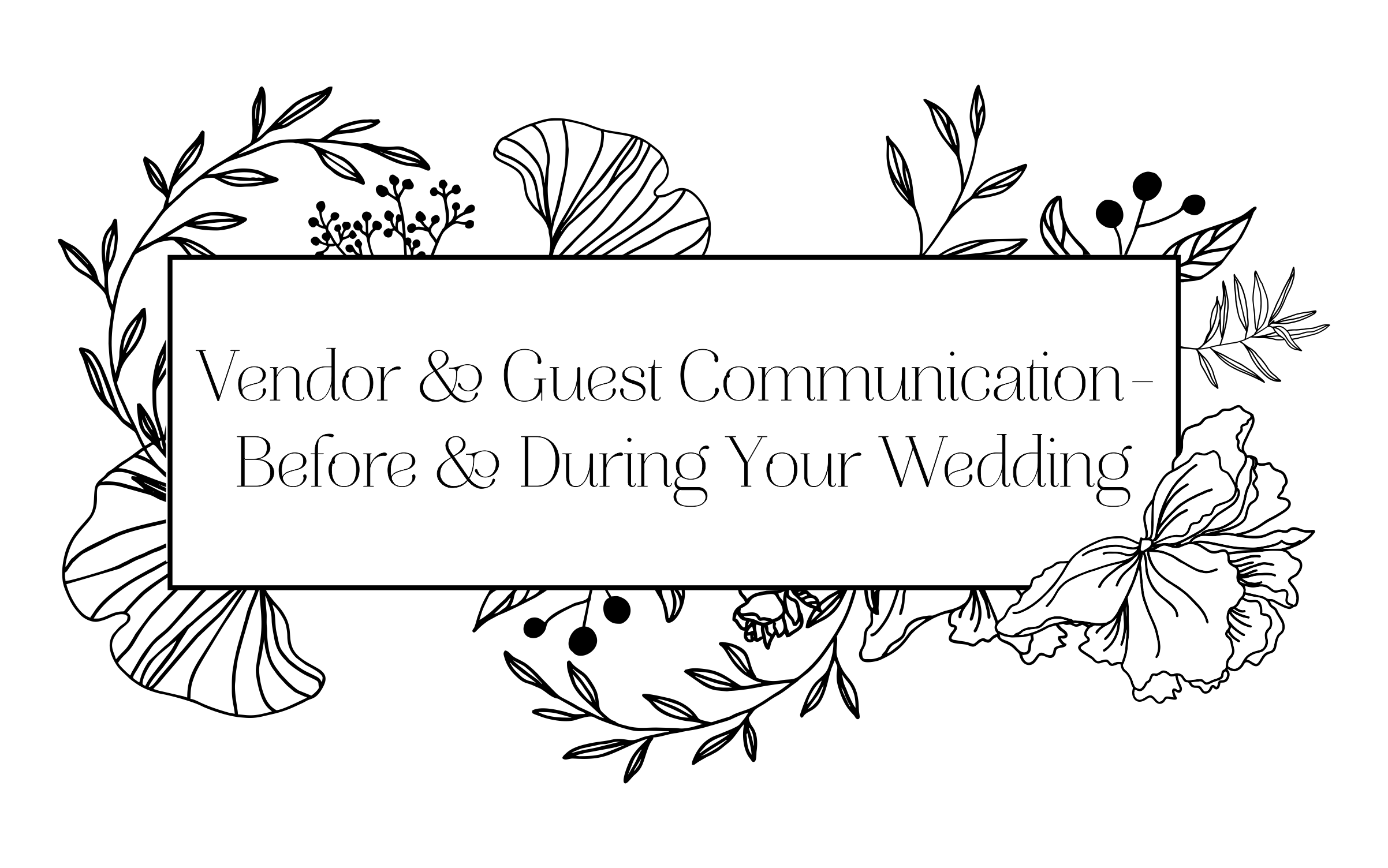 wedding guest communication during