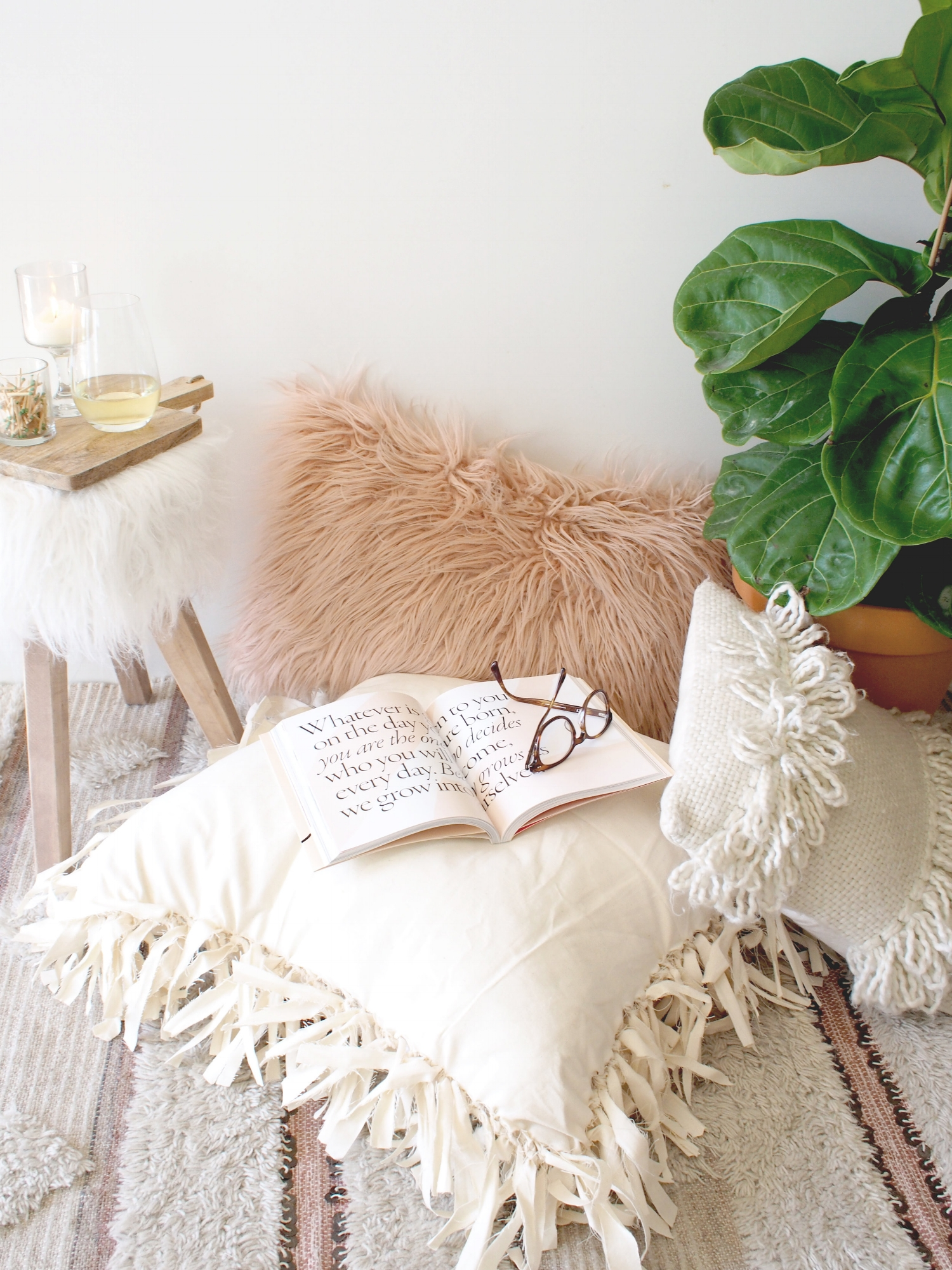 fall with this no sew floor pillow diy