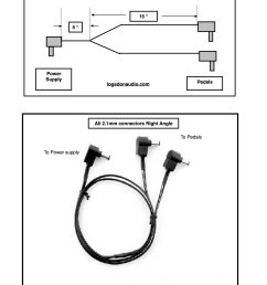 one 9 volt to two 9 volt effects pedal power cable [ 1000 x 1294 Pixel ]