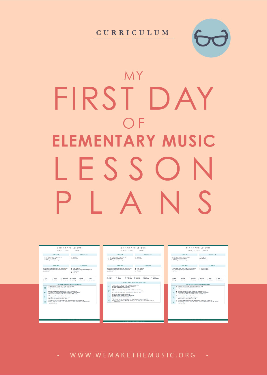 My First Day of Elementary Music Lesson Plans — Victoria Boler [ 1054 x 750 Pixel ]