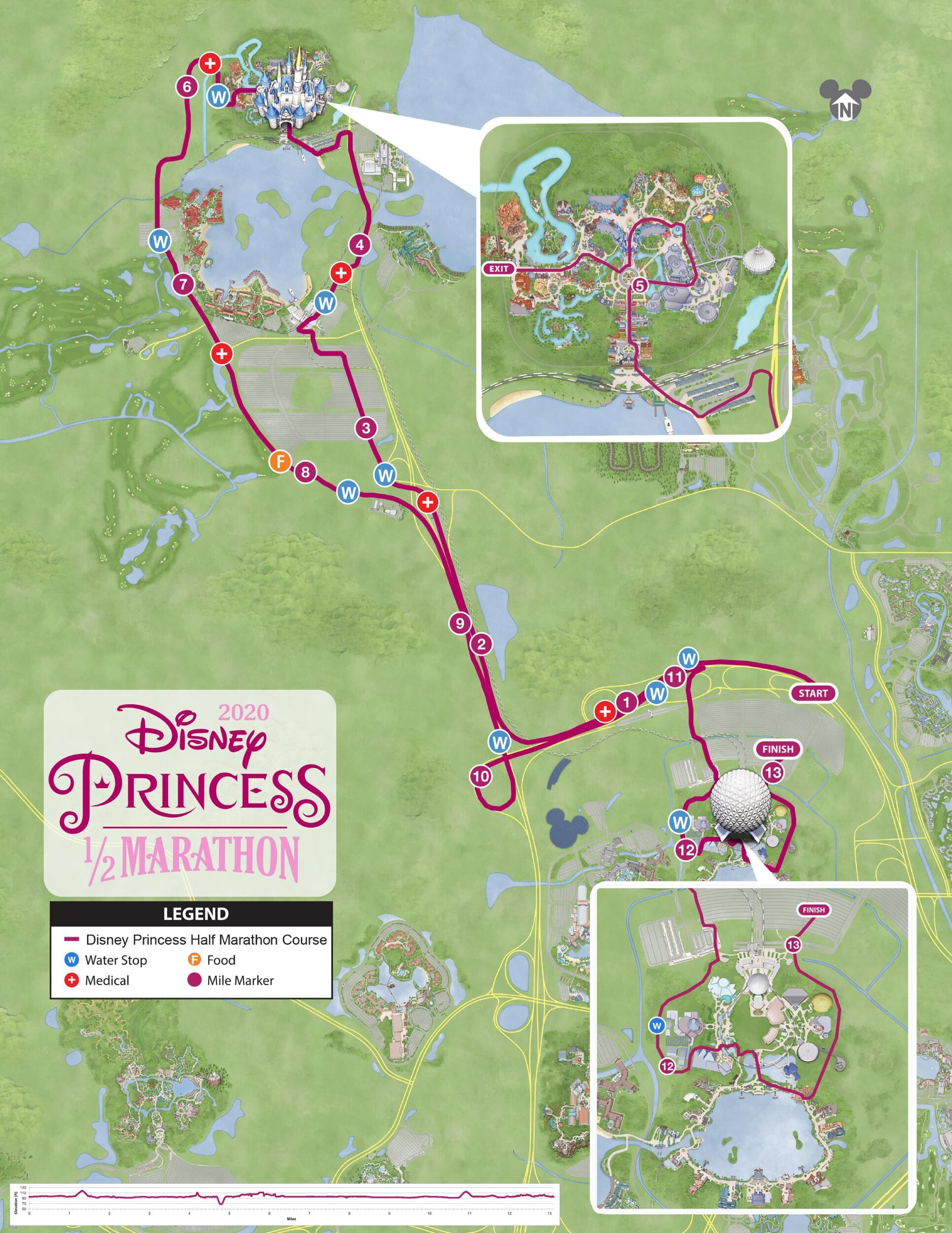 Disney Marathon Course Map 2017 : disney, marathon, course, RunDisney, Magic, Running