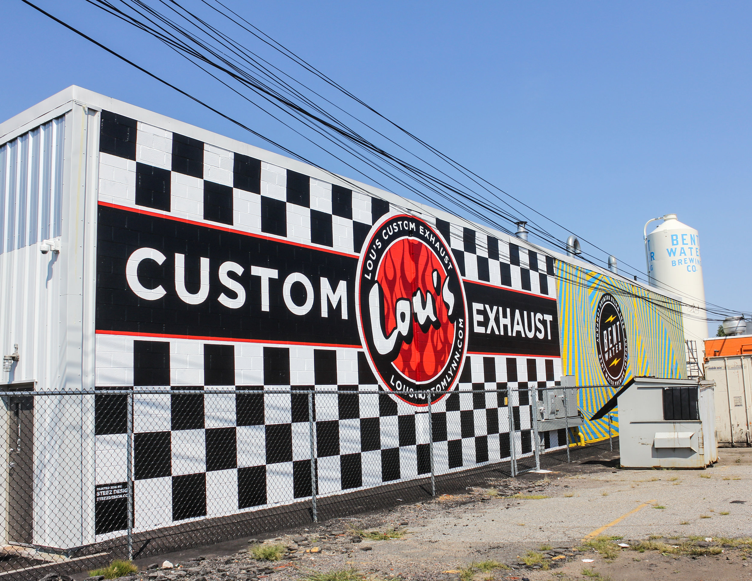 lou s custom exhaust lynn mural