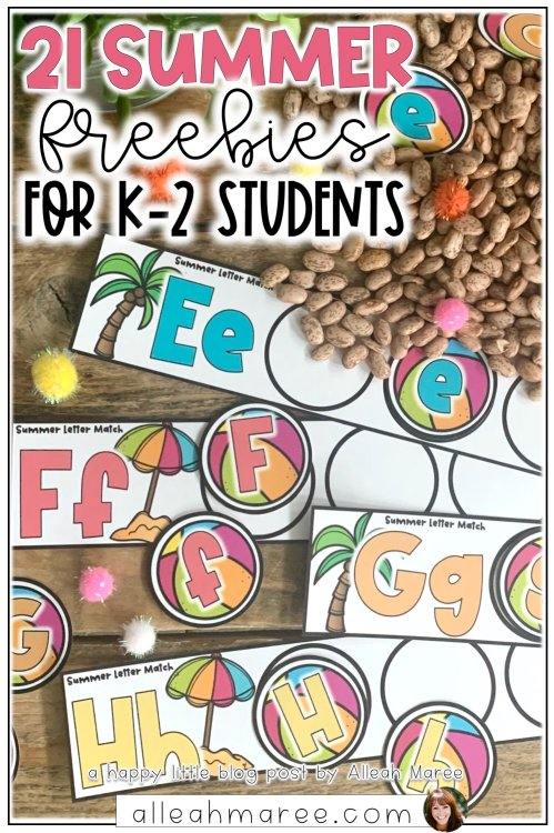 small resolution of 21 Summer Freebies for K-2 Students — Alleah Maree