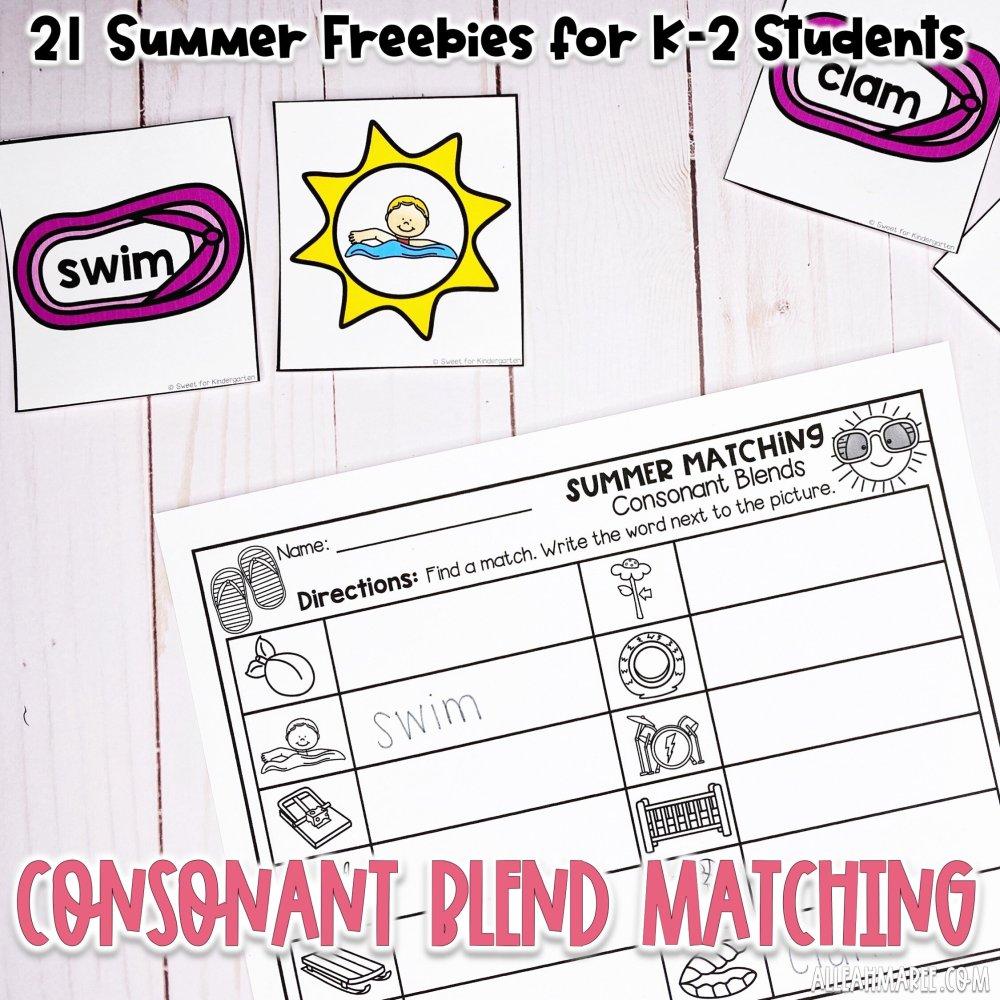medium resolution of 21 Summer Freebies for K-2 Students — Alleah Maree