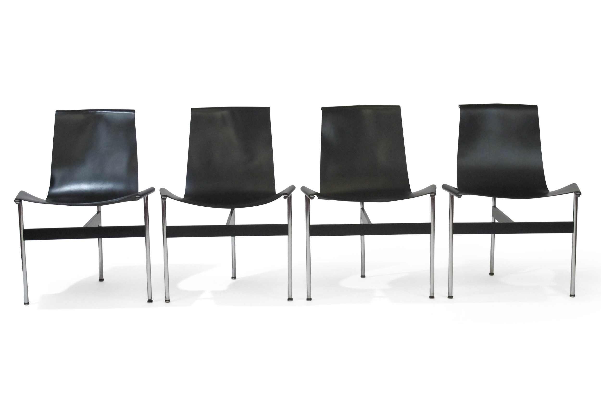 Four T Chairs By Katavolos Littel Kelly For Laverne In Black
