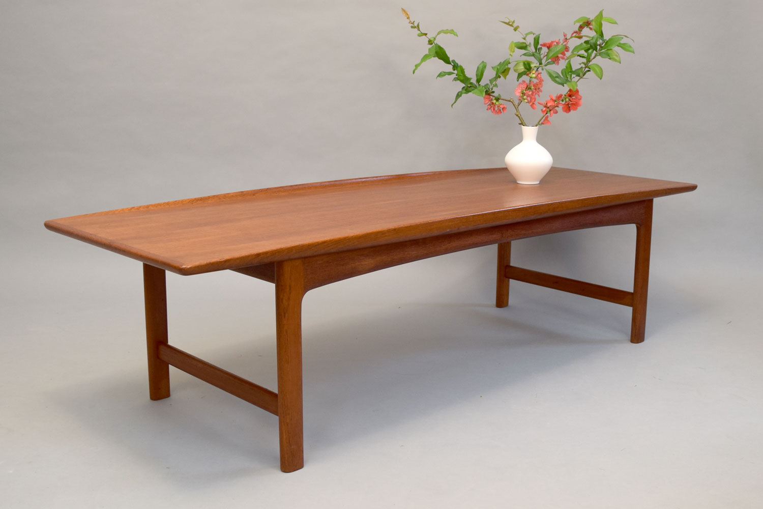 gorgeous 1960s large teak coffee table
