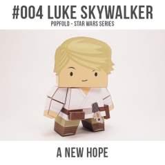 Papercraft imprimible y recortable de Luke Skywalker de Star Wars. Manualidades a Raudales.