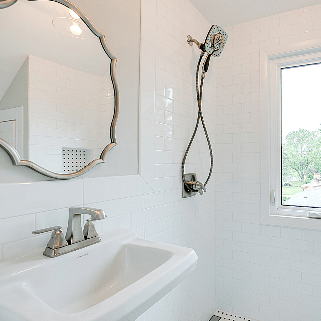 tile wainscoting cap and molding ideas