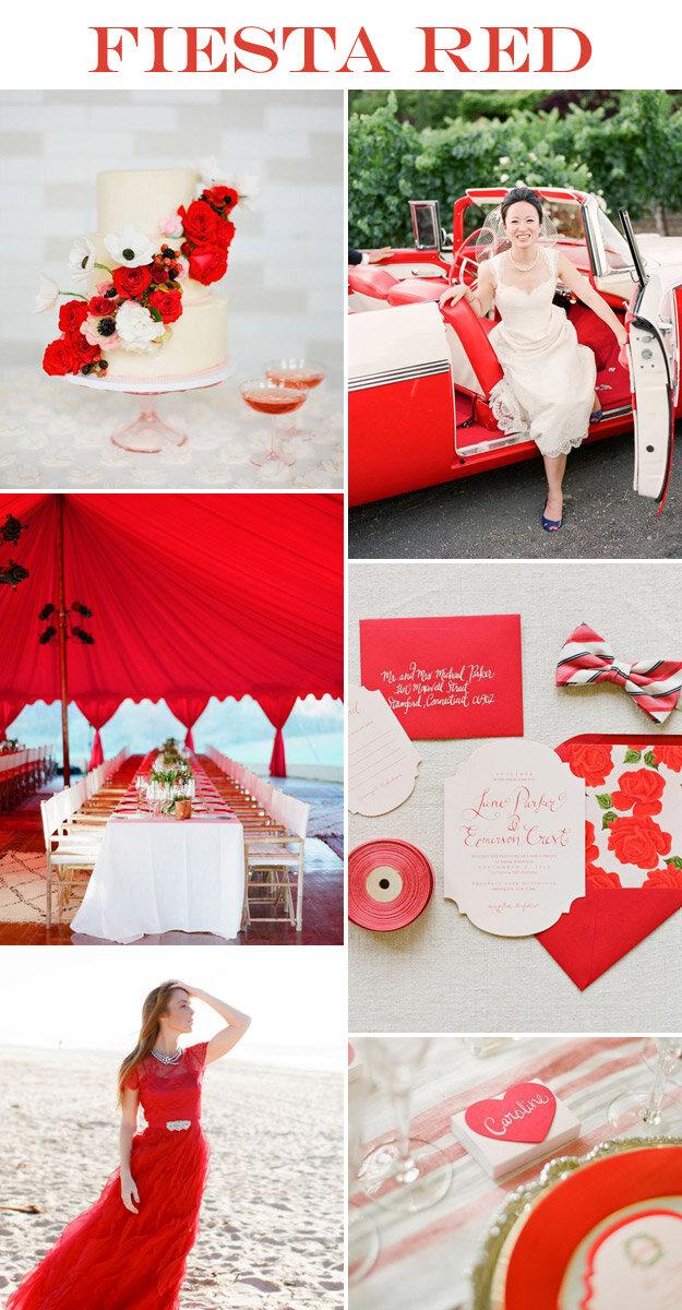Fiesta Red Wedding Inspiration