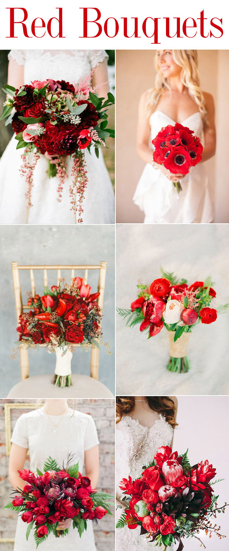 Ravishing Red Wedding Bouquets