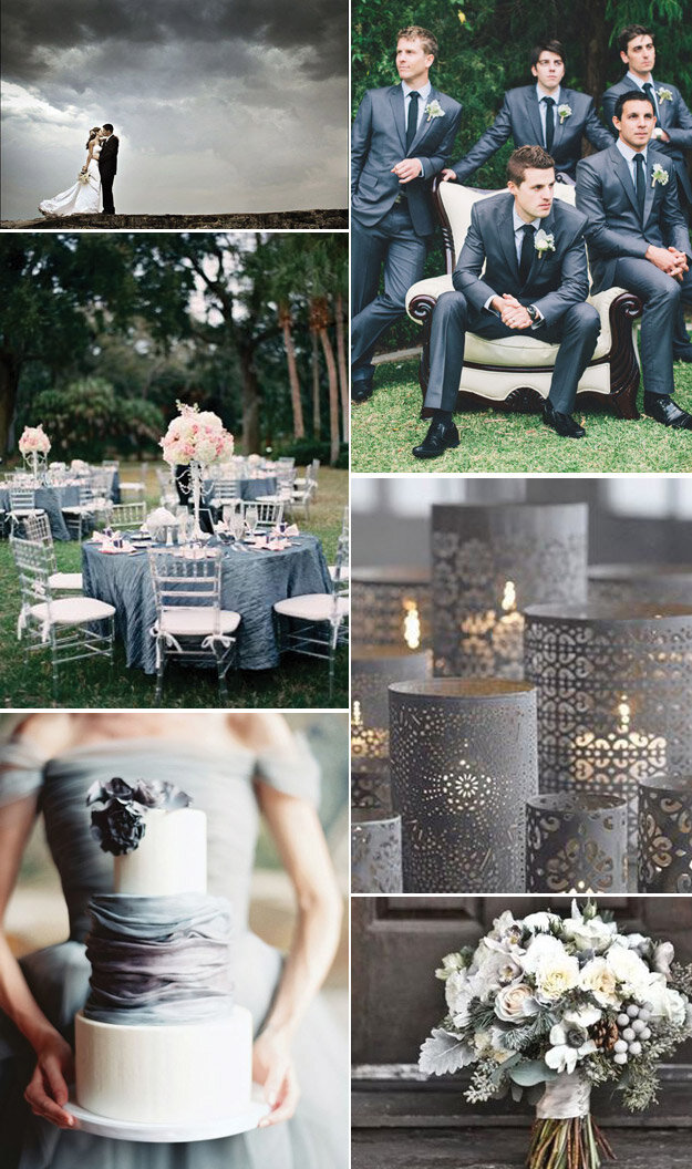 Stormy Weather: Pantone's Fall Wedding Color Inspiration