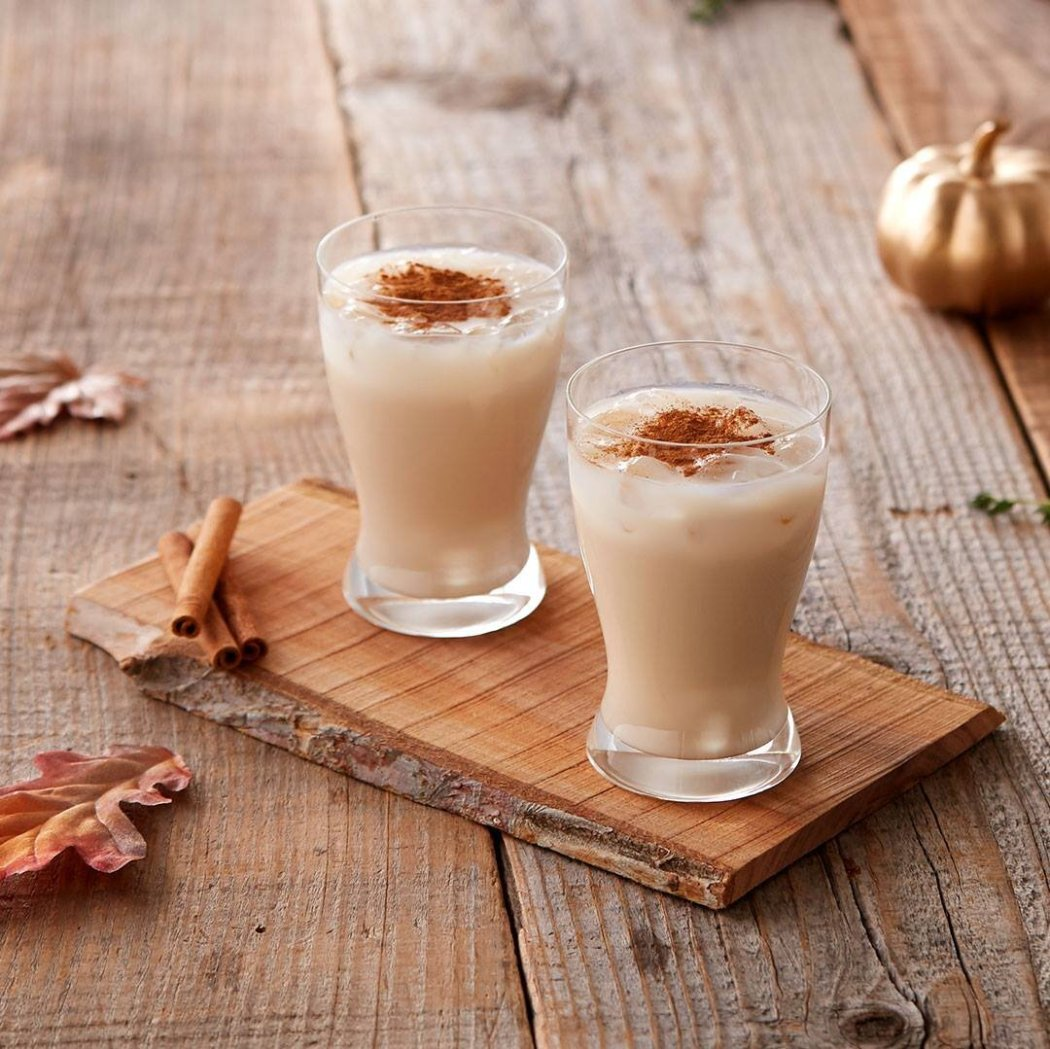 Pumpkin Chata Cocktail - Rumchata, the perfect blend of rum, cream, cinnamon & vanilla mixed with Irish Cream, Vodka, pumpkin spice and extra cinnamon are sure to put you and your guests a fall state-of-mind.from BevMo!