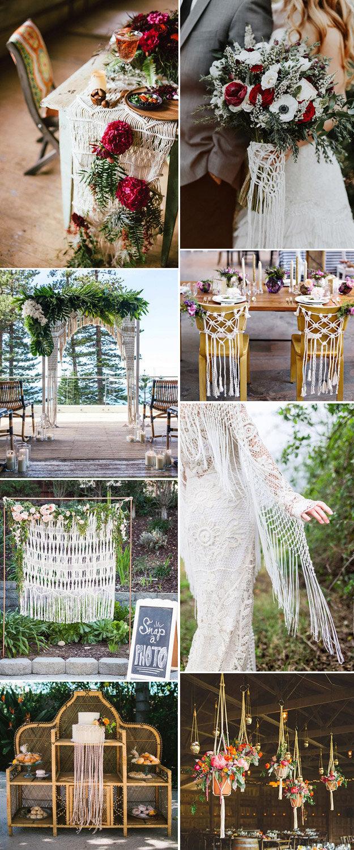 Macramé Wedding Details