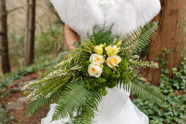 Illuminating Yellow Bridal Bouquet from Countryside Floral and Garden , image by La Vie Photography